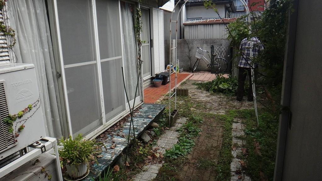 リフォーム前のお庭 調布市