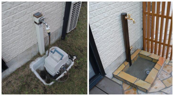 立水栓でお庭をリフォーム